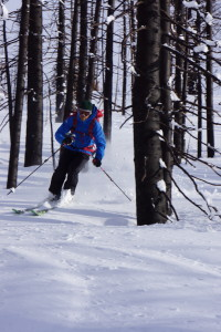 Skiing the burn