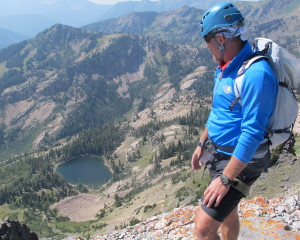 Looking at Pittsburg Lake, Mineral Basin